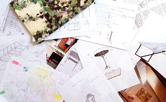 dessin technique plan meuble mobilier sur mesure