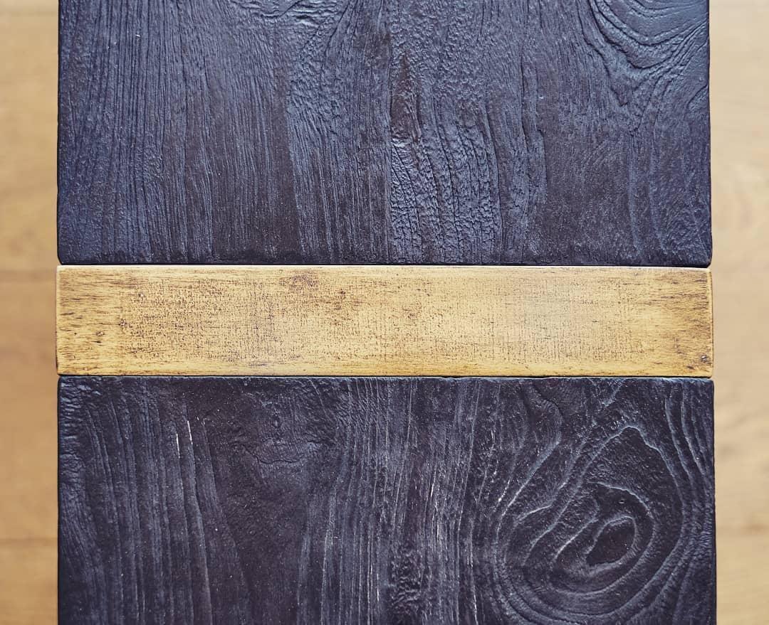 teinte de bois brulé yakisugi shou sugi ban pour les meubles