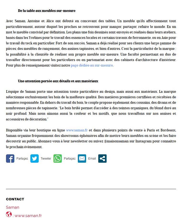 Marie Claire Maison Saman avis