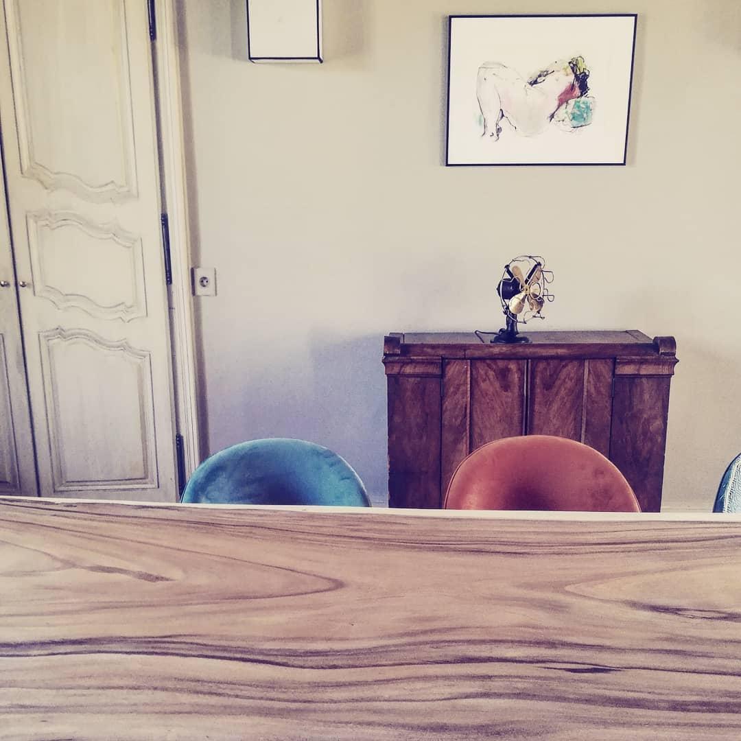 table plateau bois de suar