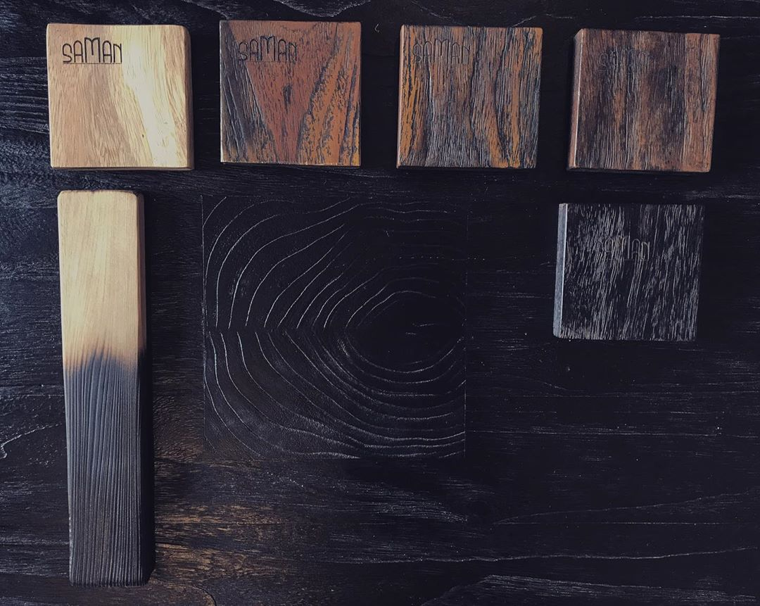 nuancier bois brulé yakisugi shou sugi ban