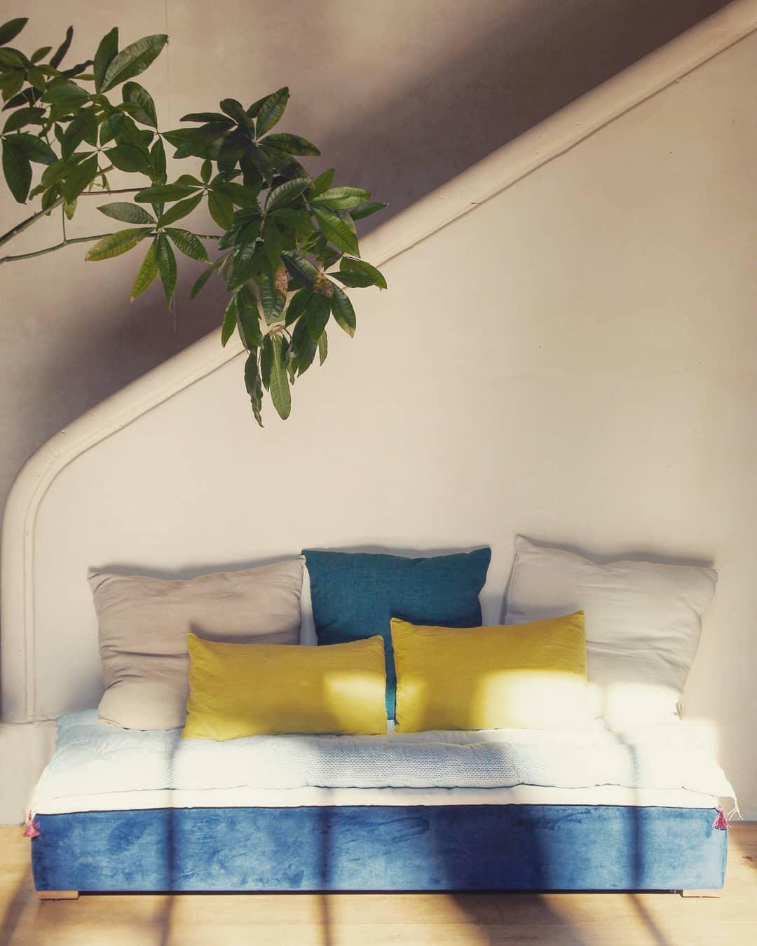 divan lit de jour sur mesure velour lin