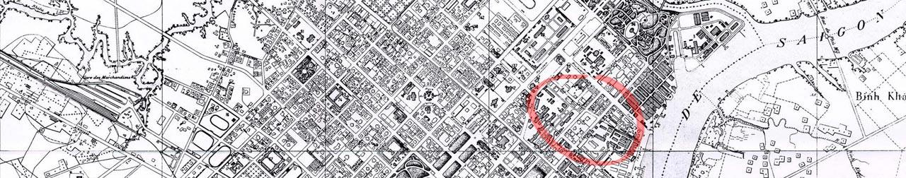 carte quartier japonais saigon