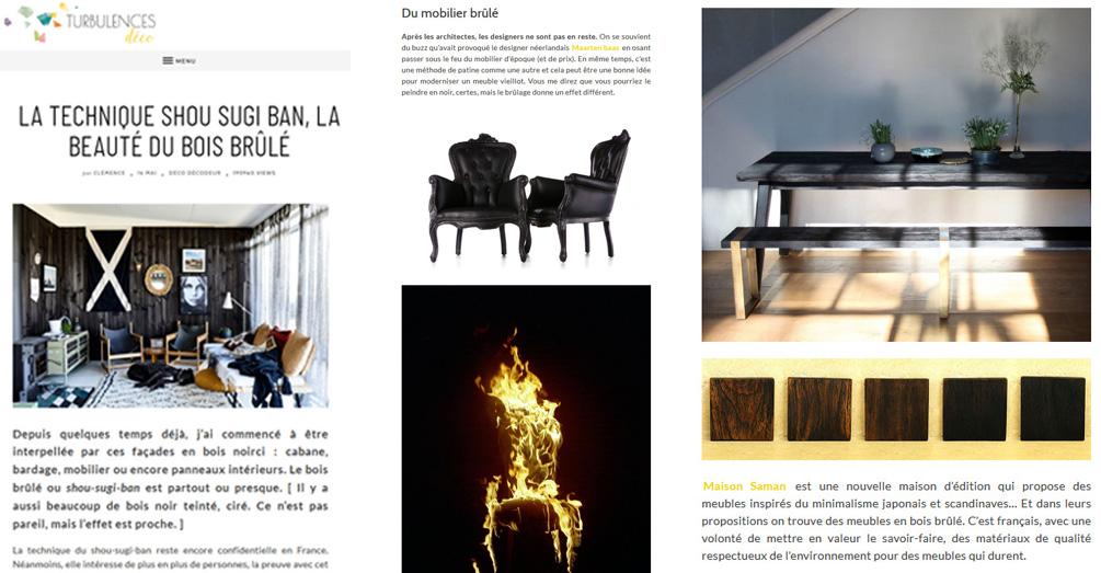 Turbulence deco blog bois brule shou sugi ban
