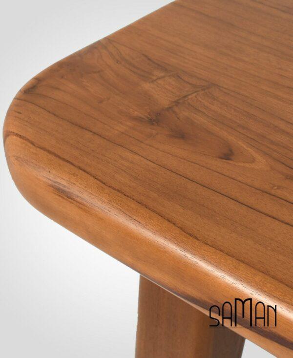 Table à manger en teck massif intérieur extérieur, design scandinave épuré