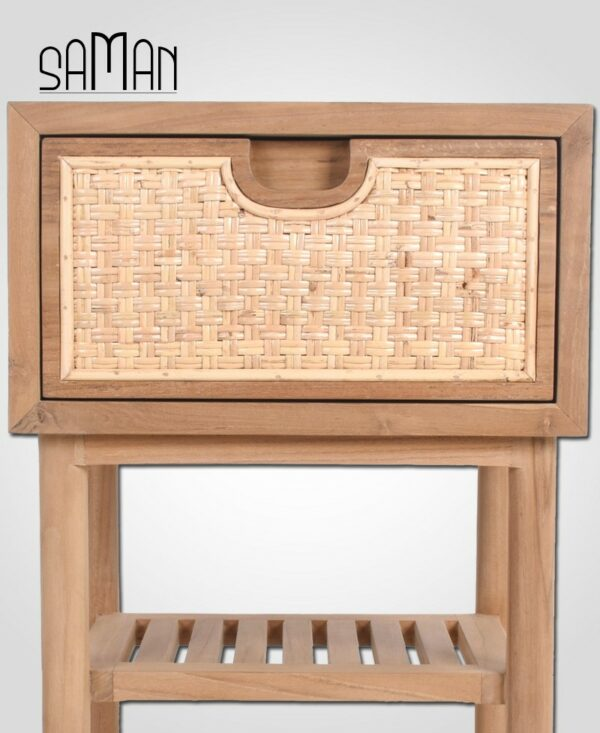 Table de chevet Suzon - Shou sugi ban Anthracite