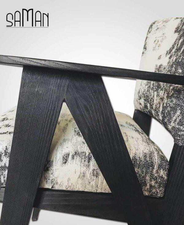 Fauteuil Mizumi Maison Saman bois brulé noir shou sugiban